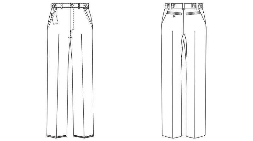 UN-0053 UNITE(ユナイト) ストレッチパンツ(男性用) ハンガーイラスト・線画