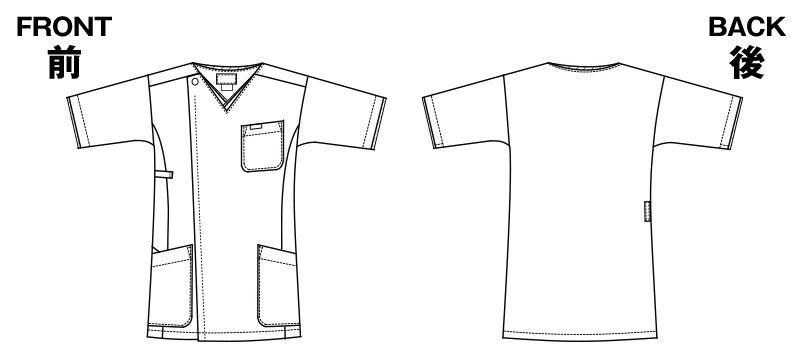 7028SC FOLK(フォーク) メンズ ジップスクラブ(男性用) ハンガーイラスト・線画