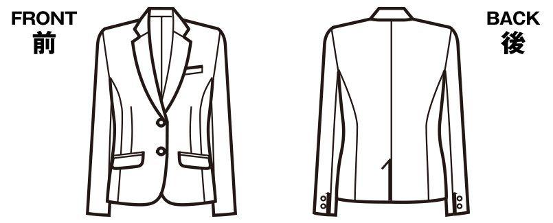 FJ15632 nuovo(ヌーヴォ) ジャケット 無地 ハンガーイラスト・線画