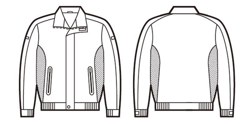自重堂 48400 軽量防寒ブルゾン ハンガーイラスト・線画