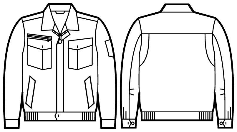 51200 自重堂JAWIN 長袖ブルゾン ハンガーイラスト・線画