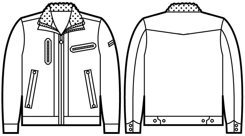 58100 自重堂JAWIN 防寒ジャンパー ハンガーイラスト・線画