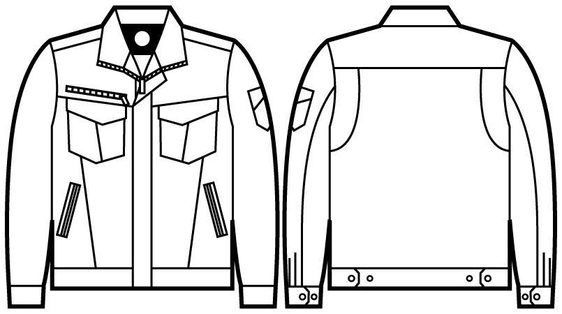 71000 自重堂Z-DRAGON ストレッチジャンパー ハンガーイラスト・線画