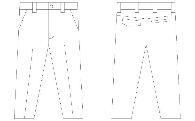 75001 自重堂Z-DRAGON [春夏用]ストレッチノータックパンツ ハンガーイラスト・線画