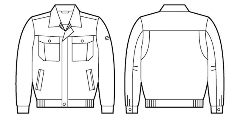 84500 自重堂 [春夏用]長袖ブルゾン ハンガーイラスト・線画