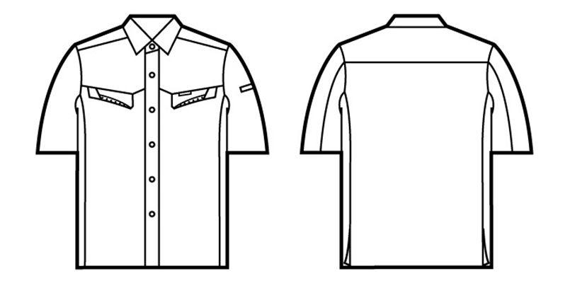 自重堂 85514 [春夏用]製品制電半袖シャツ(JIS T8118適合) ハンガーイラスト・線画