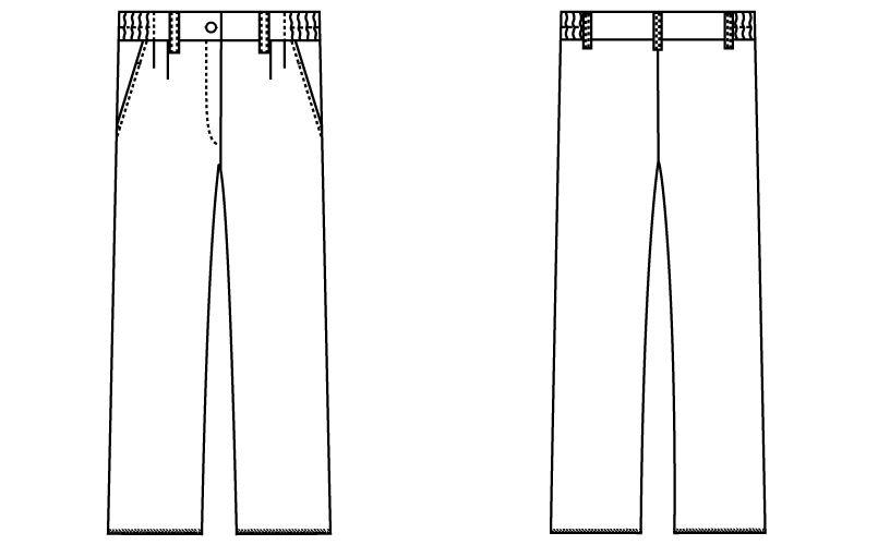 自重堂WHISEL WH10442 レディースツータックパンツ ゆったり 股下フリー(女性用) ハンガーイラスト・線画