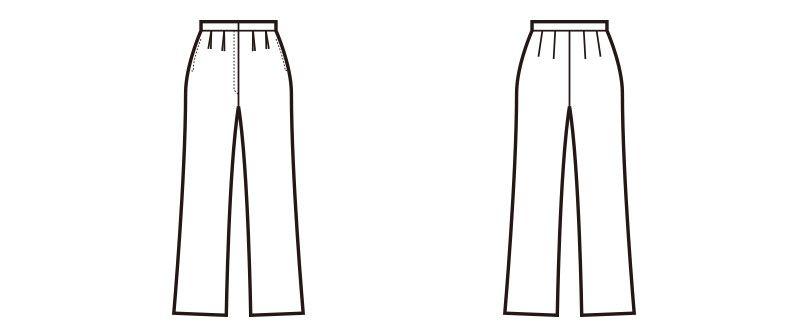 en joie(アンジョア) 71070 プチプラなベーシックの無地パンツ ハンガーイラスト・線画