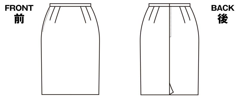 S-15600 SELERY(セロリー) [通年]洗ったらすぐに乾く!イージーケアのタイトスカート 無地 ハンガーイラスト・線画